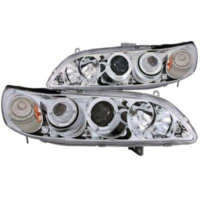Honda Accord 1998-2002 Projector Headlights Chrome Halo