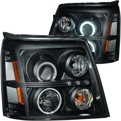 2002 Cadillac Escalade HID Projector Headlights Black CCFL Halo LED