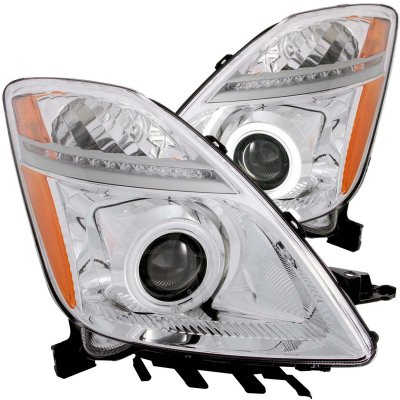 Toyota Prius 2004-2009 Projector Headlights Chrome CCFL Halo