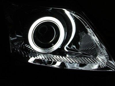 Toyota Prius 2004-2009 Projector Headlights Chrome CCFL Halo