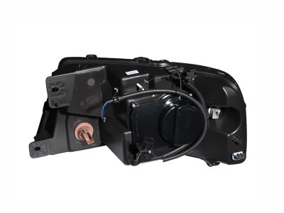 Ford F150 2004-2008 Black Projector Headlights with Dual Halo and LED