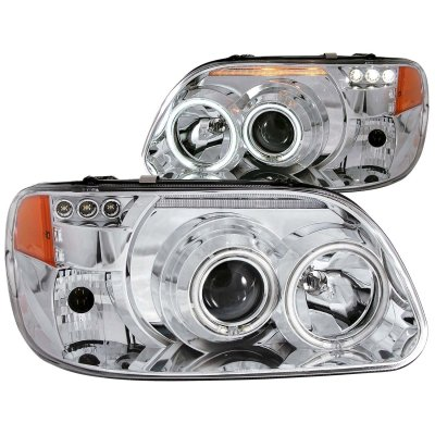 ford explorer 1995 2001 projector headlights chrome ccfl halo led a132ex62101 topgearautosport. Black Bedroom Furniture Sets. Home Design Ideas