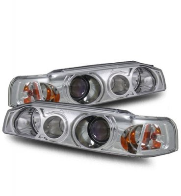 Honda Accord Sedan 1990-1993 Projector Headlights Chrome