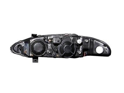 Mitsubishi Eclipse 1997-1999 Projector Headlights Black Halo LED