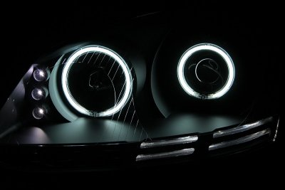 2007 VW GTI Projector Headlights Black CCFL Halo LED