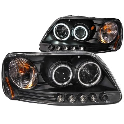Ford Expedition 1997 2002 Black Projector Headlights With