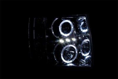 Chevy Silverado 2500HD 2007-2014 Clear Projector Headlights Halo LED