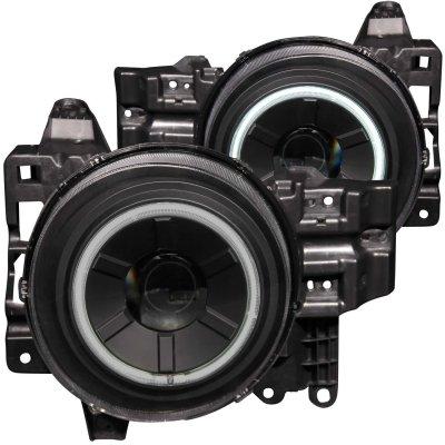 Toyota FJ Cruiser 2007-2012 Black Projector Headlights CCFL Halo