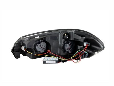 Chevy Impala 2006-2011 Clear Projector Headlights with CCFL Halo and LED