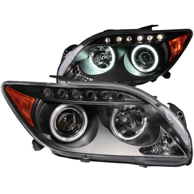 Scion tC 2005-2007 Projector Headlights Black CCFL Halo LED