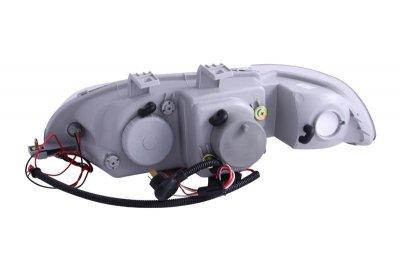 Honda Civic 1992-1995 Projector Headlights Black Halo LED