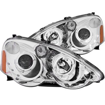 Acura RSX 2002-2004 Clear Projector Headlights Halo LED