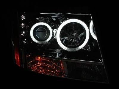 Chevy Suburban 2007-2014 Clear Projector Headlights with CCFL Halo and LED