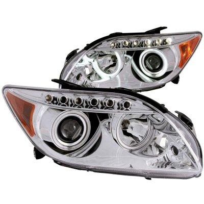 Scion tC 2005-2007 Projector Headlights Chrome CCFL Halo LED