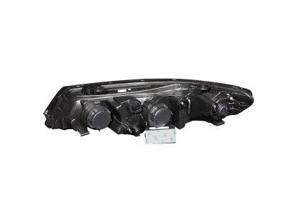 2011 Kia Forte Projector Headlights Black CCFL Halo LED DRL