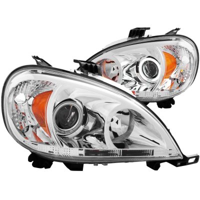Mercedes Benz M Class 2002-2005 Clear Projector Headlights CCFL Halo