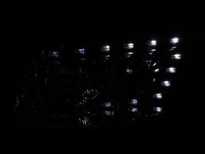 Hyundai Santa Fe 2007-2009 Projector Headlights Chrome LED Strip