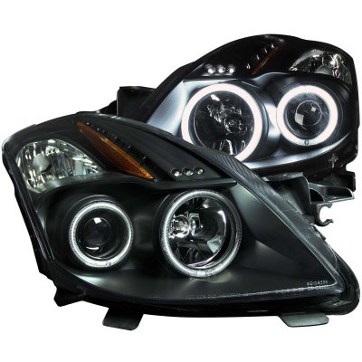 Nissan Altima Coupe 2008 2010 Projector Headlights Black
