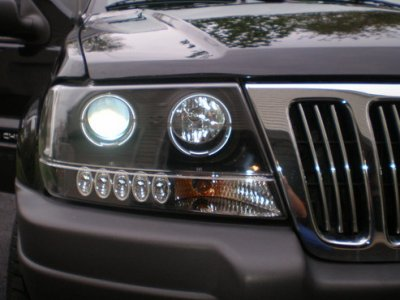 ... Jeep Grand Cherokee 1999 2004 Black Projector Headlights Halo LED ...