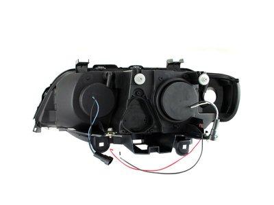 BMW X5 2000-2003 Projector Headlights Black Halo LED DRL