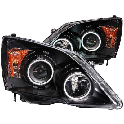 Honda CRV 2007-2011 Black Projector Headlights CCFL Halo