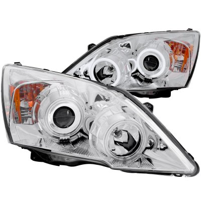 Honda CRV 2007-2011 Clear Projector Headlights CCFL Halo