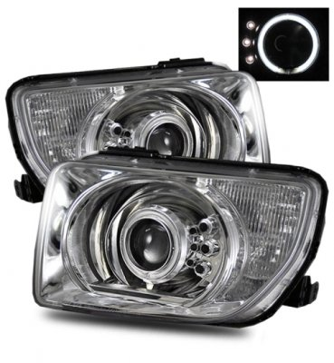 Honda Element 2003-2006 Projector Headlights Chrome CCFL Halo LED