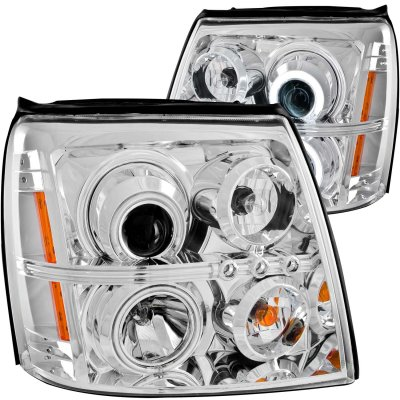 Cadillac Escalade 2002-2006 HID Projector Headlights Chrome CCFL Halo LED