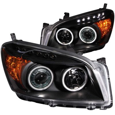 Toyota Rav4 2009 2011 Projector Headlights Black Ccfl Halo