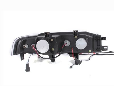 Honda Accord Sedan 1990-1993 Projector Headlights Black
