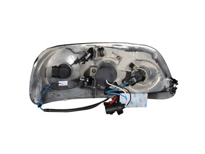 Ford F150 1997-2003 Clear Projector Headlights with CCFL Halo and LED