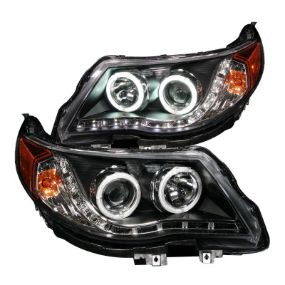 Subaru Forester 2009 2017 Projector Headlights Black Ccfl Halo Led Drl A132av0w101 Topgearautosport