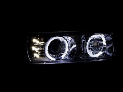 Chevy Suburban 2000-2006 Chrome Projector Headlights Halo LED