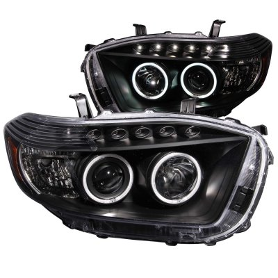 Toyota Highlander 2008 2010 Projector Headlights Black