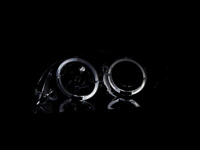 Nissan Maxima 2000-2001 Chrome Projector Headlights Halo