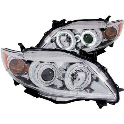 Toyota Corolla 2009 2010 Projector Headlights Chrome Ccfl Halo A13256aa101 Topgearautosport