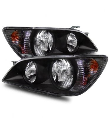Lexus IS300 2001-2005 Crystal Headlights Black