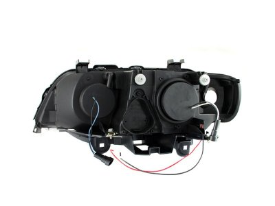 BMW X5 2000-2003 Projector Headlights Chrome Halo LED DRL