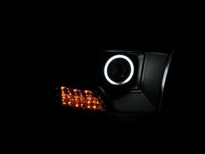 Dodge Ram 2009-2016 Projector Headlights Black CCFL Halo