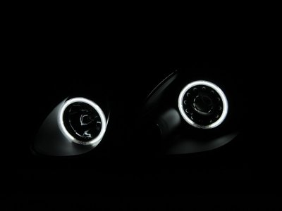 Lexus GS300 1998-2005 Black Projector Headlights CCFL Halo