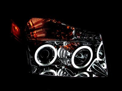 Nissan Titan 2004-2007 Clear Projector Headlights CCFL Halo LED