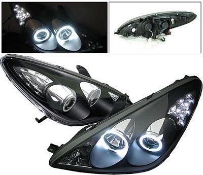 Jeep Halo Headlights >> Lexus ES300 2002-2003 Black Projector Headlights CCFL Halo LED | A132ECS5101 - TopGearAutosport