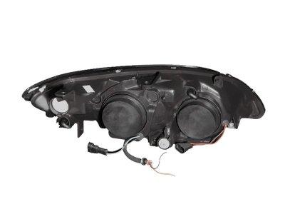 2005 Honda Civic Projector Headlights Chrome Halo