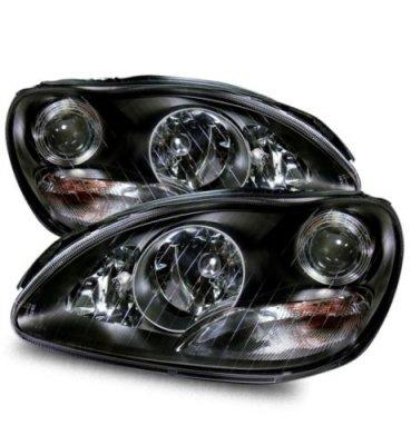Mercedes benz s class 2000 2005 black projector headlights for Mercedes benz s430 headlight replacement