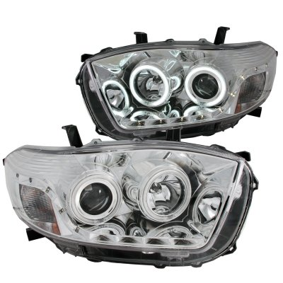 Toyota Highlander Custom >> Toyota Highlander 2008-2010 Projector Headlights Chrome CCFL Halo LED DRL | A132AAL5101 ...