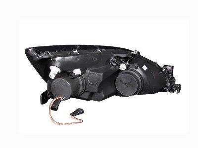 Honda Accord 2003-2007 Projector Headlights Black Halo LED DRL