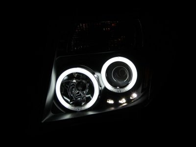 Nissan Frontier 2005-2008 Black Projector Headlights CCFL Halo LED