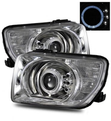 Honda Element 2003-2006 Projector Headlights Chrome Halo LED