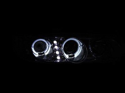 Honda Accord 1994-1997 Projector Headlights Chrome Halo LED