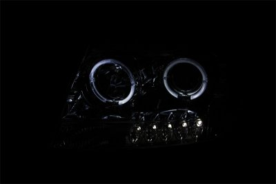 Jeep Grand Cherokee 1999-2004 Clear Projector Headlights Halo LED